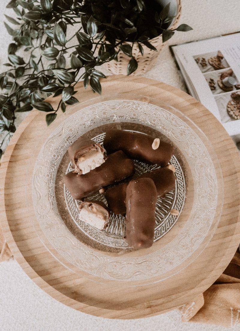 Recette de Snickers vegan glacés