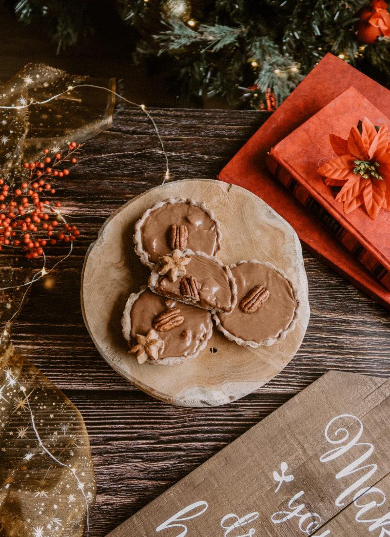 Recette de tartelettes aux noix de pécan et caramel au chocolat vegan